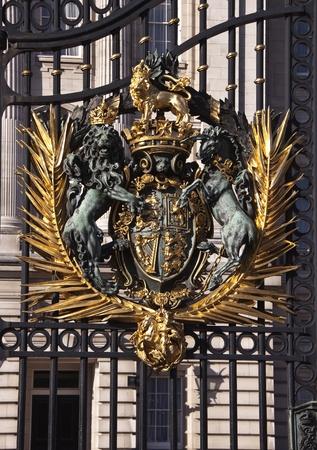 Gate to Buckingham Palace  in London photo