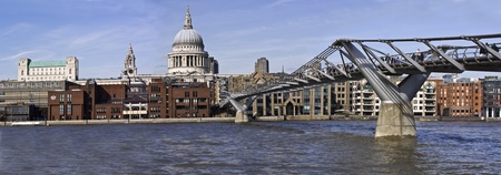 St Paul`s Cathedral and Millennium Bridge photo