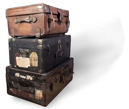 Antique steamer trunks.