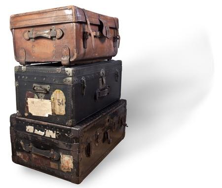 Antique steamer trunks.
