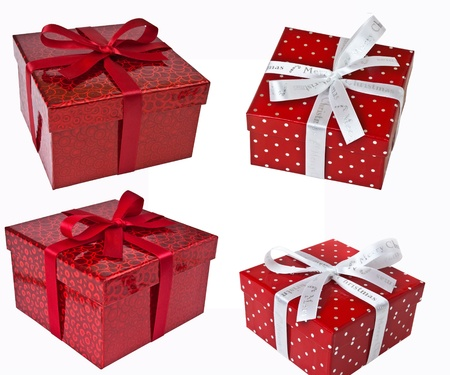 Gifts with decoration of bow photo