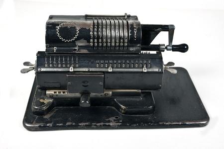 assume: Vintage mechanical adding machine