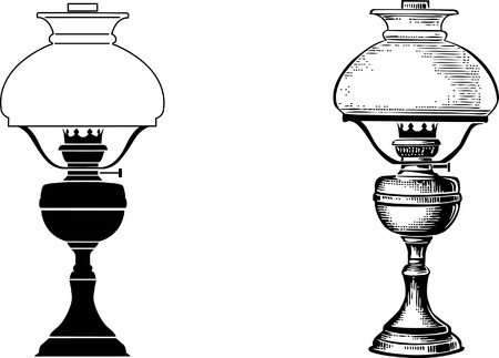 luminary: Old table lamp   illustration