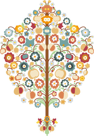 Tree with graphic design elements Vector