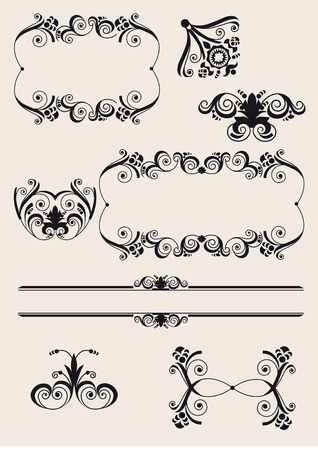 free vintage background: Illustration drawing of design elements