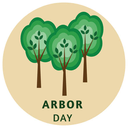 Vector illustration for arbor day. Illustration