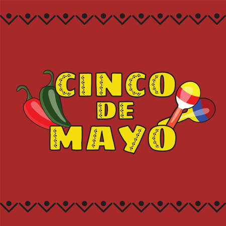 Vector illustration of Cinco de Mayo celebration background.