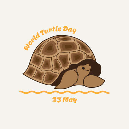 World turtle day. Illustration