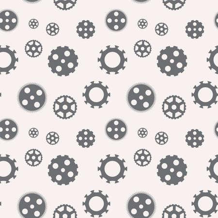 Seamless pattern of gears.