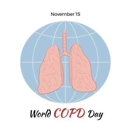 alveolos: World COPD day. World Chronic Obstructive Pulmonary Disease Day. Poster of the human lungs.