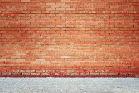 ladrillo: Fondo de pared de ladrillo grunge Foto de archivo