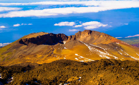 Pico Viejo or Montaña Chahorra is a volcano located on the island of Tenerife (Canary Islands). It constitutes the second highest peak in Tenerife and the Canary Islands (after Mount Teide). Banco de Imagens