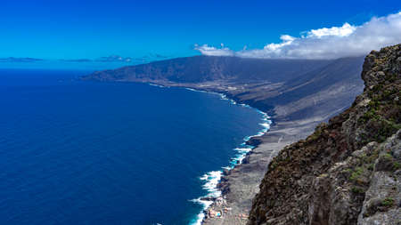 View of La Frontera from the Los Bascos viewpoint. This viewpoint is located in El Hierro.