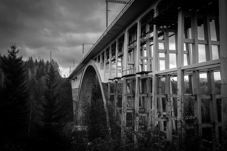forest railway: The Karako Viaduct in Harghita county, Romania.