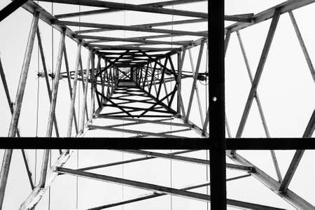 rule of thirds: Photo of an electrical pillar taken from below. Composition based on rule of thirds.