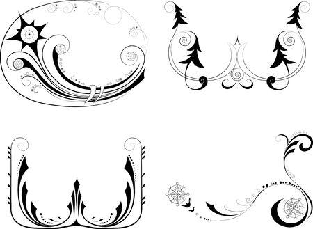 Holidays decorative design elements