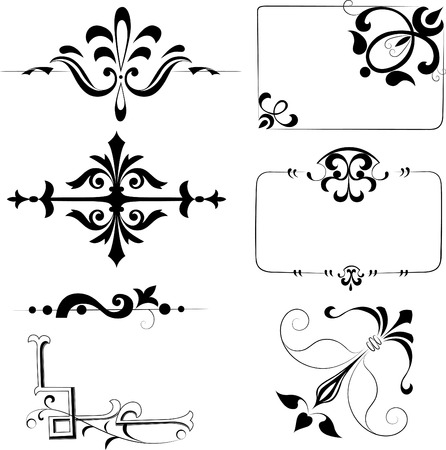 Vintage patterns for design Vector