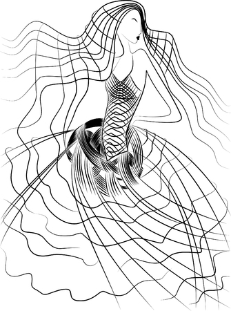Girl from the lines Illustration