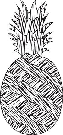 Stylized striped pineapple