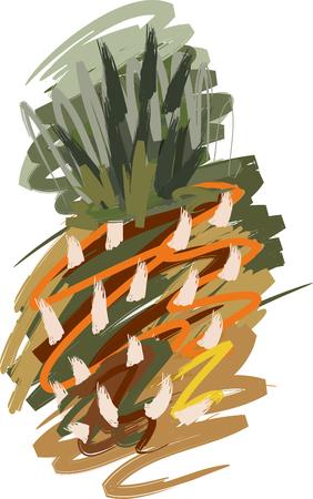 Art. Vector illustration of pineapple