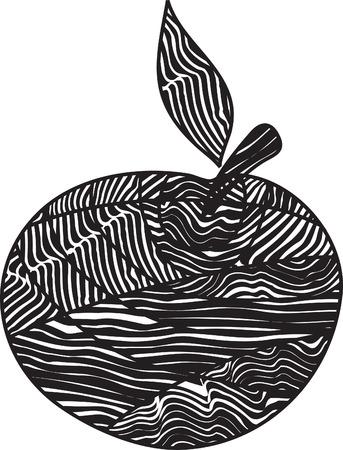 Stylized apple Stock Vector - 3774655