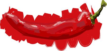 Art. Vector illustration of chilli pepper Illustration