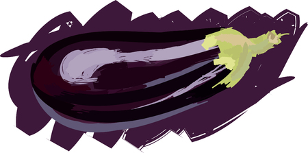ecosystems: Art. Vector illustration of eggplant