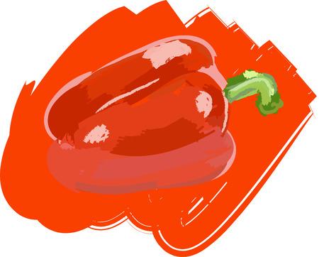 Art. Vector illustration of pepper