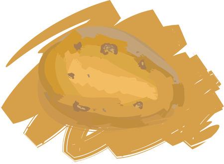Art. Vector illustration of potato