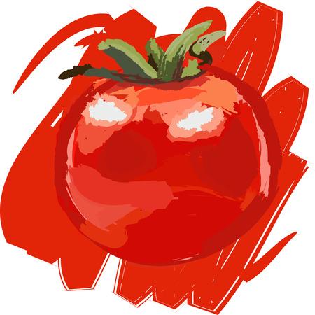 Art. Vector illustration of tomato