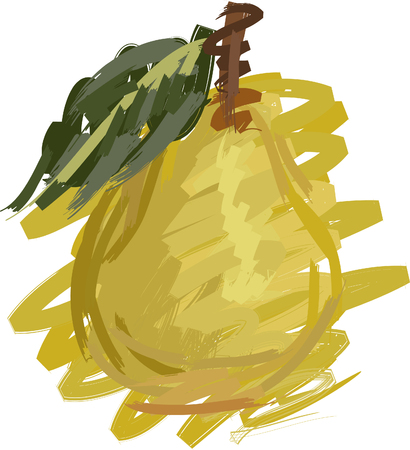Art. Vector illustration of pear