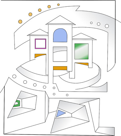 An abstract representation of architecture Vector