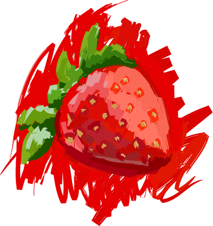 Art. Vector illustration of strawberry