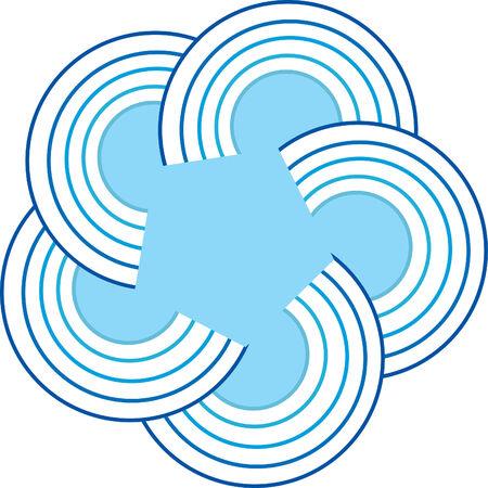 Round star logo Vector