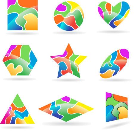 Set of logos to shine Illustration
