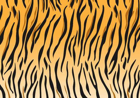 Vector tijger zwart en oranje gestript tijger ontwerp