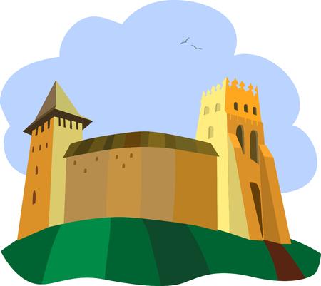 An ancient castle Vector