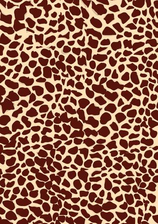 Vector image of a giraffe texture