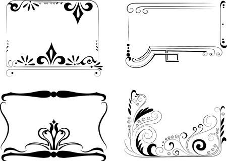 free vector: Vintage patterns for design Illustration