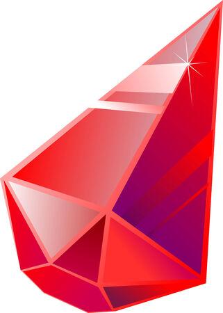 rubin: Red rubin Illustration