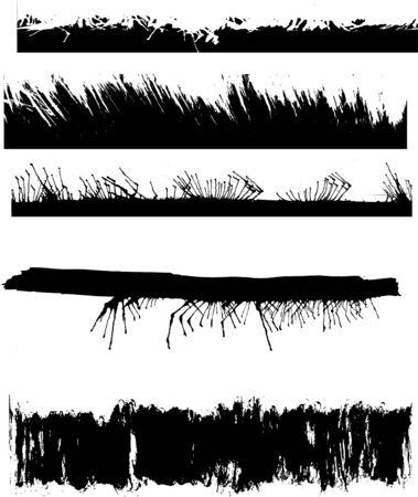 A set of grunge edges Stock Vector - 3919528