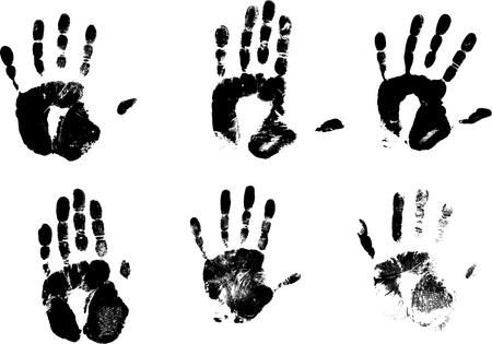 finger prints: Sello de manos de vectores