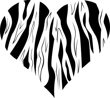 Pattern in the form of heart.