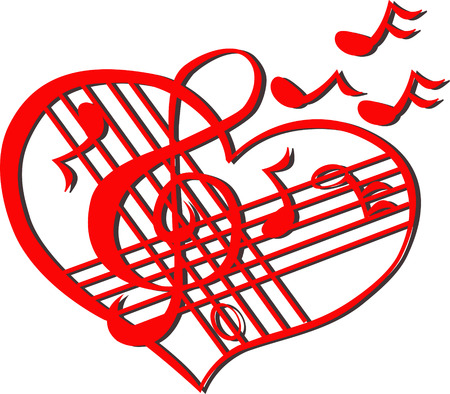 vector artwork: Musical heart