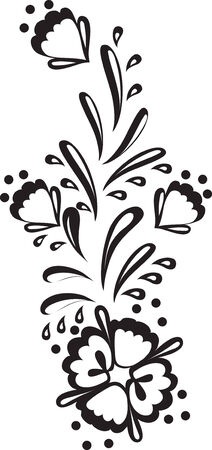 Floral design element. Vector illustration. Vector