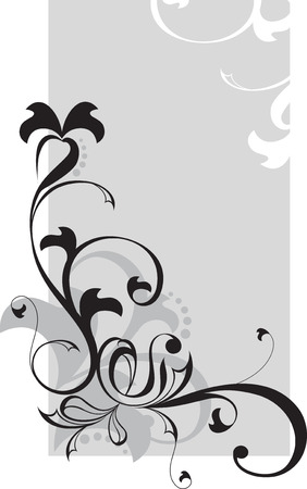 oldest: Beautiful flower vector in oldest style