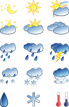 Weather icons set Stock Vector - 4803996