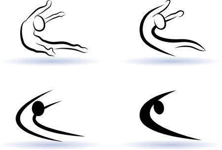 transformation of the silhouette Illustration