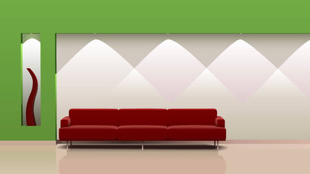 Stylish interior design. This vector Vector