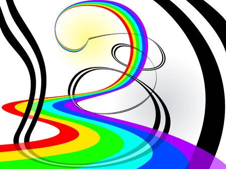 Rainbow abstraction background. Vector illustration Vector